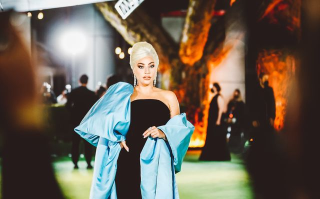 los angeles, california   september 25 editors note image has been edited using digital filters lady gaga attends the academy museum of motion pictures opening gala at academy museum of motion pictures on september 25, 2021 in los angeles, california photo by matt winkelmeyerwireimage,