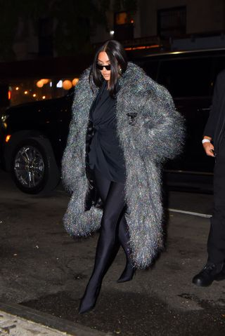 kim kardashian in new york for her performance at snl
