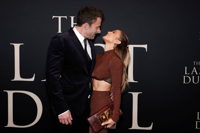 new york, new york   october 09 ben affleck and jennifer lopez attend the last duel new york premiere at rose theater at jazz at lincoln centers frederick p rose hall on october 09, 2021 in new york city photo by arturo holmesgetty images