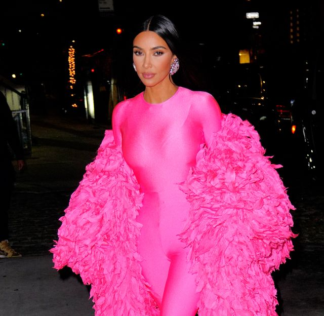 new york, new york   october 10 kim kardashian arrives at the afterparty for saturday night live on october 10, 2021 in new york city photo by gothamgc images