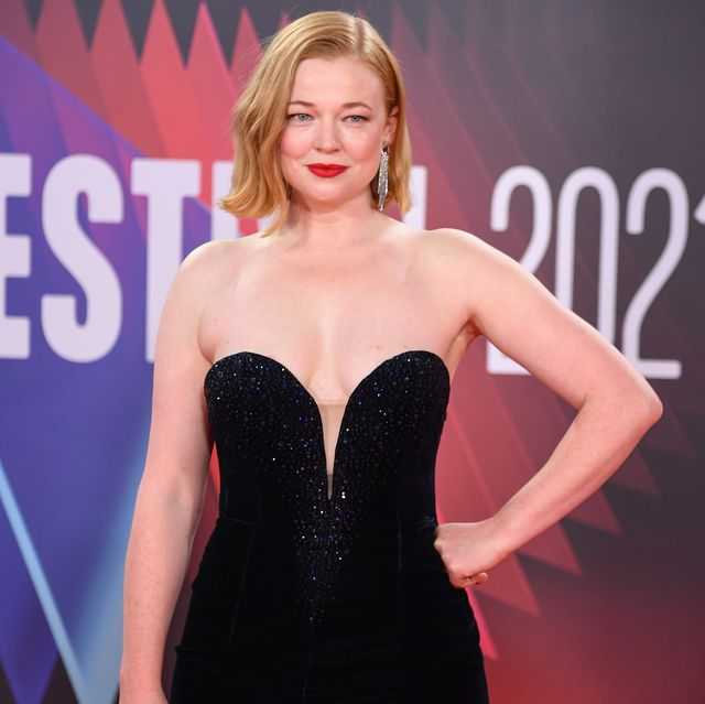 london, england   october 15 sarah snook attends the succession european premiere during the 65th bfi london film festival at the royal festival hall on october 15, 2021 in london, england photo by gareth cattermolegetty images for bfi