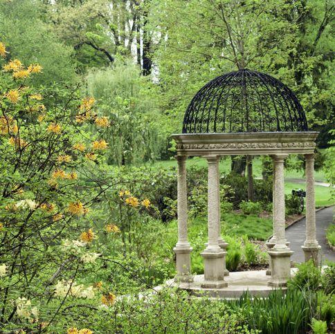 the pierces woods love temple, a pergola at longwood garden, near kennett square, pennsylvania