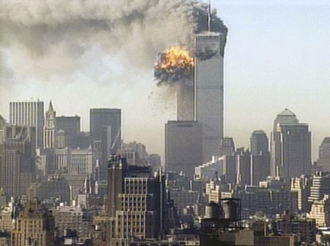 new york   september 11 japan out video capture  series 44 hijacked united airlines flight 175 is flown into the south tower of the world trade center  september 11, 2001 in new york city the plane is one of four hijacked that morning and is the second plane to be flown into the world trade center buildings photo by cnn via getty images