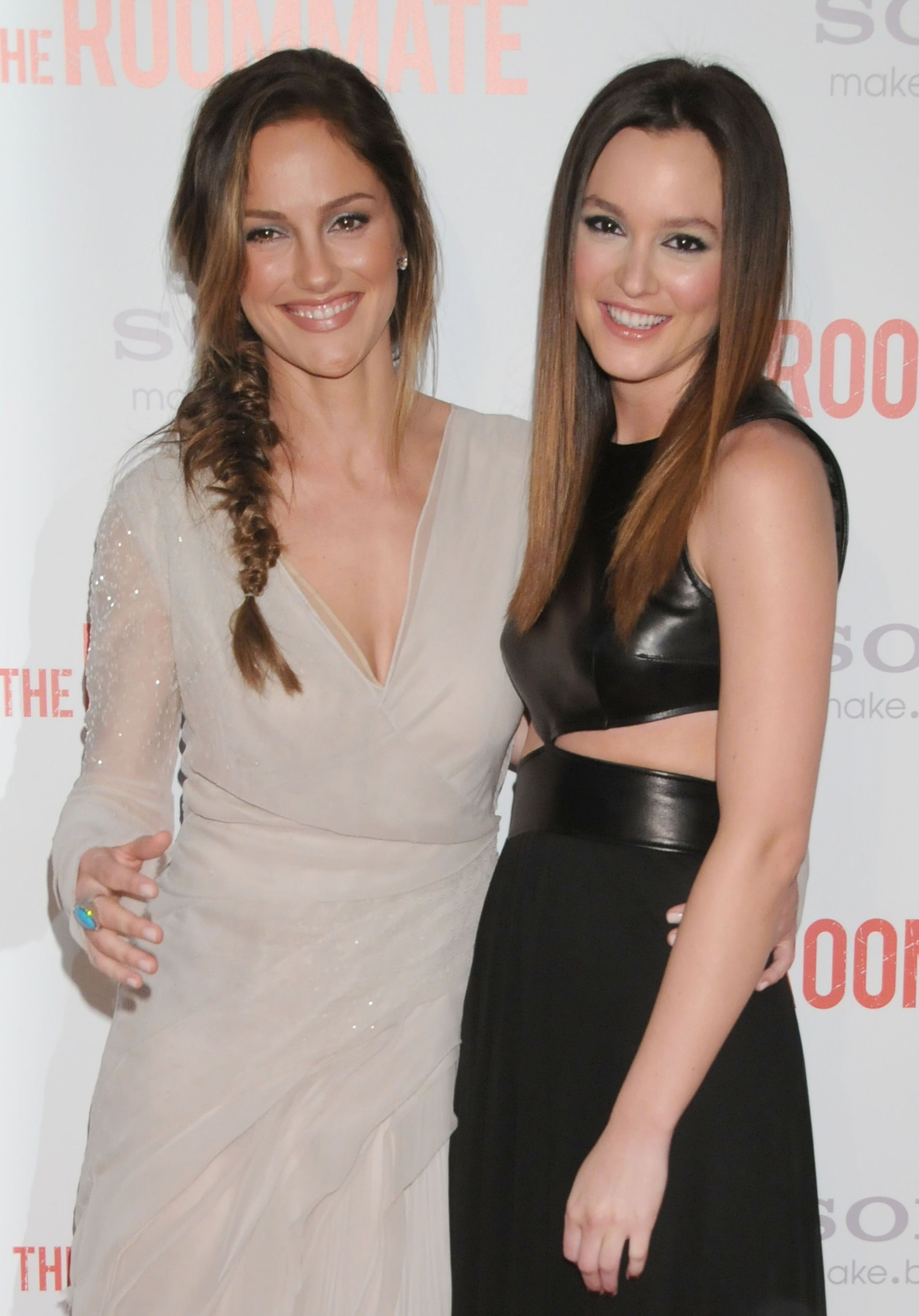 "Minka Kelly and Leighton Meester Real-life friends Kelly and Meester made an instant connection while shooting a Clearasil commercial back in 2003. When the doppelgängers were later asked to link up for the 2011 psychological thriller The Roommate , Meester jumped at the chance, calling the casting a ""no brainer."""