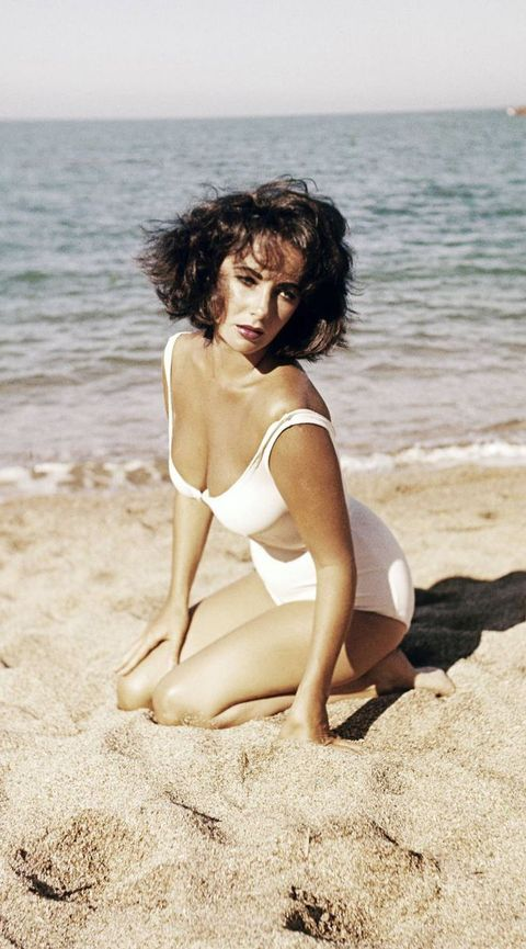 liz taylor, elizabeth taylor, vintage, swim, swimwear, ocean, beach, suddenly last summer, actress, hollywood, summer, bathing suit