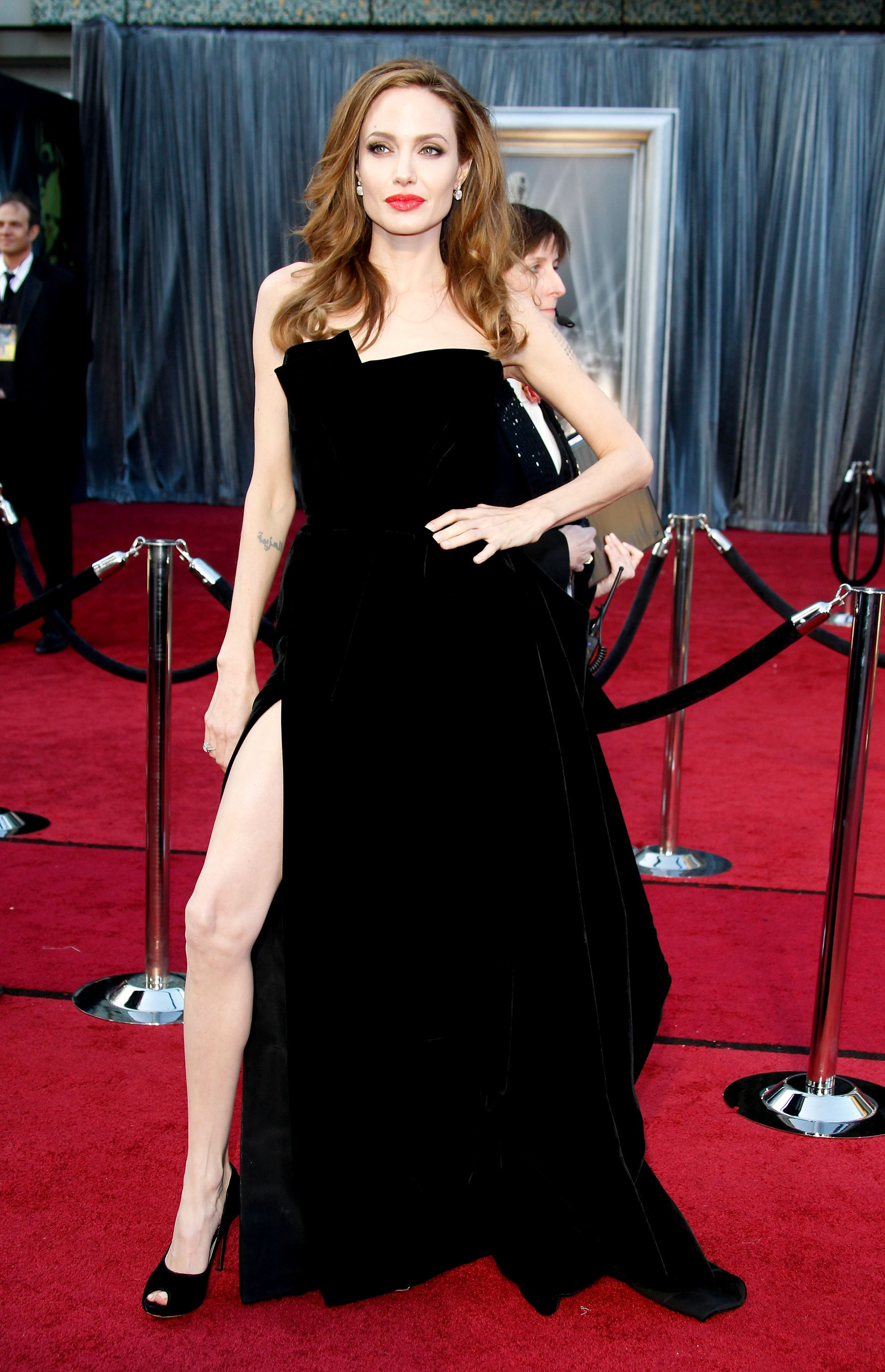 "2012: When Angelina Jolie couldn't stop showing off her leg. After Jolie posed in her side-slit gown at the Oscars, people began photoshopping her right leg onto other images—ultimately leading to the notorious ""Angie's right leg"" meme."