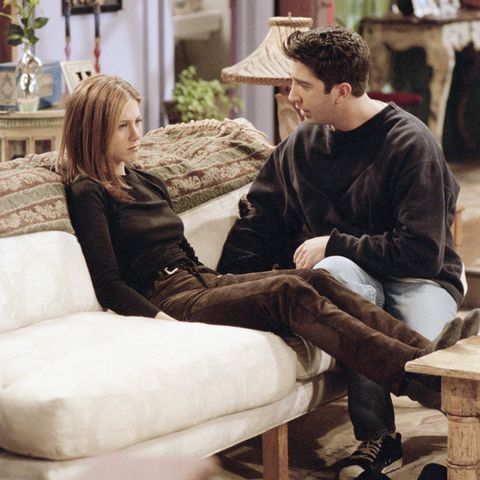 friends    the one the morning after    episode 16    aired 2201997    pictured l r jennifer aniston as rachel green, david schwimmer as ross geller    photo by nbcu photo bank