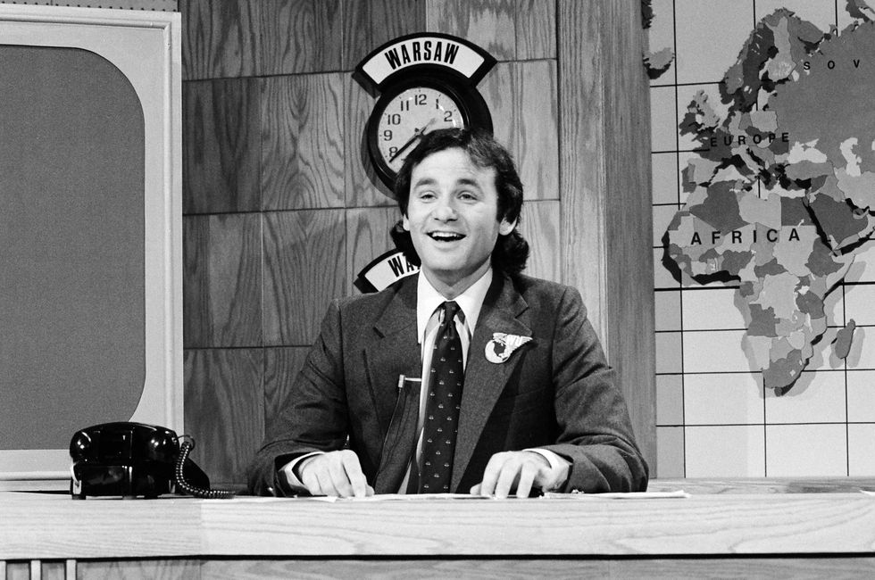 Bill Murray during the SNL 'Weekend Update' on October 21, 1978.