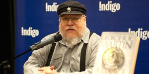 "George R.R. Martin Signs Copies Of His New Book ""A Dance With Dragons"""