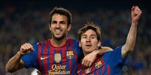 Cesc Fabregas Lionel Messi Barcelona