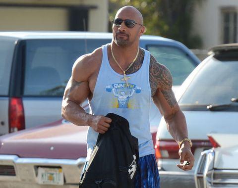 Barechested, Sunglasses, Muscle, Eyewear, Arm, Chest, Shoulder, Sportswear, Trunk, Vehicle,