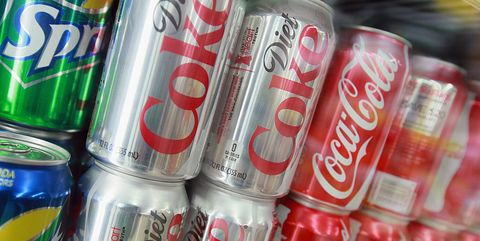 cans of diet coke
