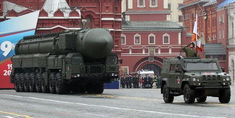 Russian Topol-M intercontinental ballistic missile.