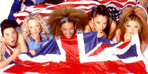 Flag, Team, Cheering, Fan, Cheerleading uniform, Flag of the united states, Uniform, Cheerleading,