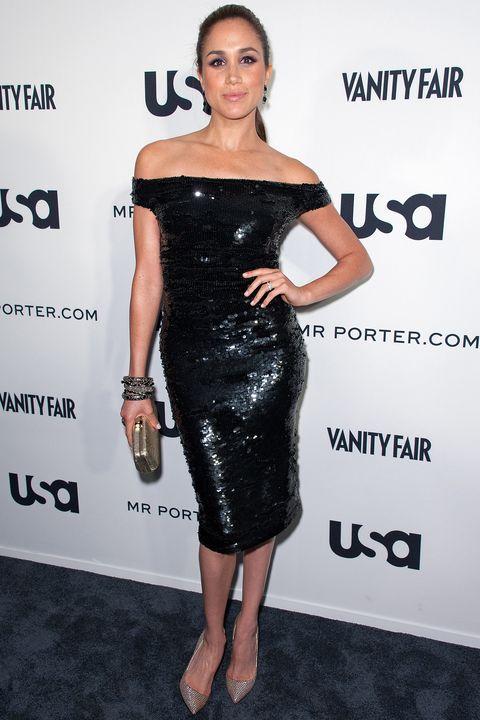 Dress, Clothing, Shoulder, Cocktail dress, Little black dress, Fashion model, Joint, Hairstyle, Fashion, Footwear,