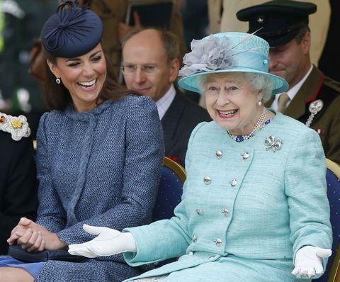 Queen Elizabeth II and The Duke And Duchess Of Cambridge Visit The East Midlands
