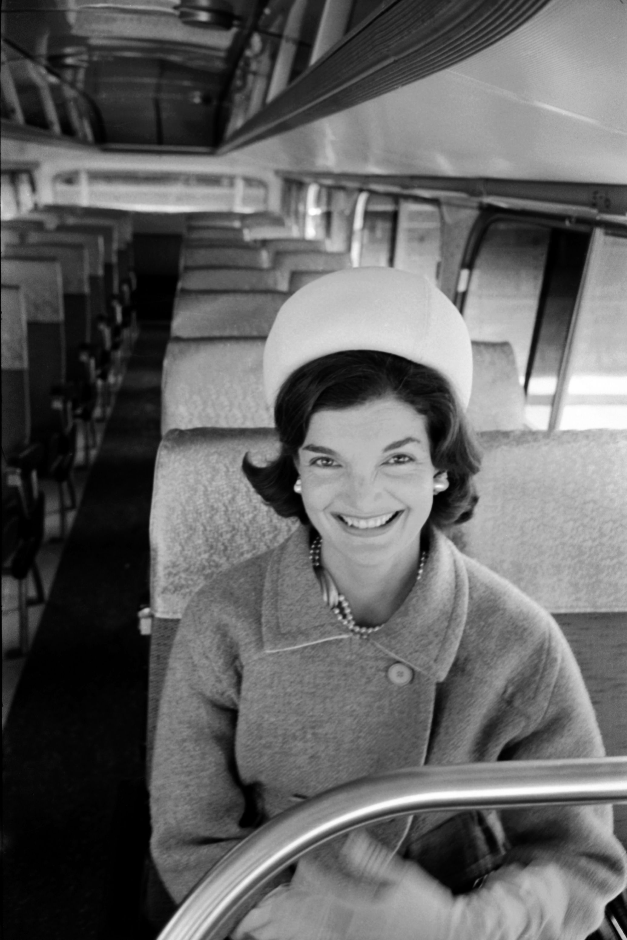Jackie on the campaign trail for her husband Jack's presidential run.