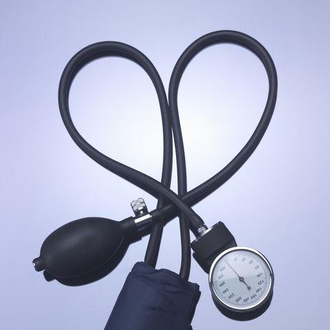 Close up of blood pressure gauge
