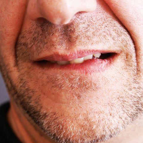Facial hair, Face, Hair, Beard, Lip, Chin, Nose, Cheek, Skin, Facial expression,