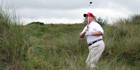 Donald Trump Golfing