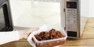 Microwaving leftover food in tupperware