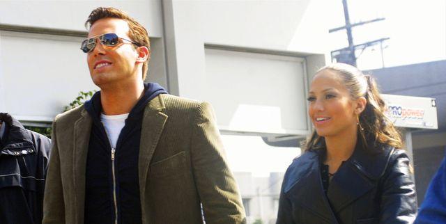 beverly hills, ca   october 20  actresssinger jennifer lopez and actor ben affleck hold hands while filming her new music video at barefoot restaurant on october 20, 2002 in beverly hills, california  photo by ben ari finegoldgetty images