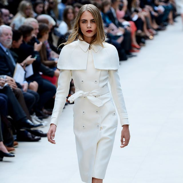 london, england   september 17 model cara delevingne showcases designs on the catwalk by burberry prorsum on day 4 of london fashion week springsummer 2013, at kensington gardens on september 17, 2012 in london, england  photo by ian gavangetty images