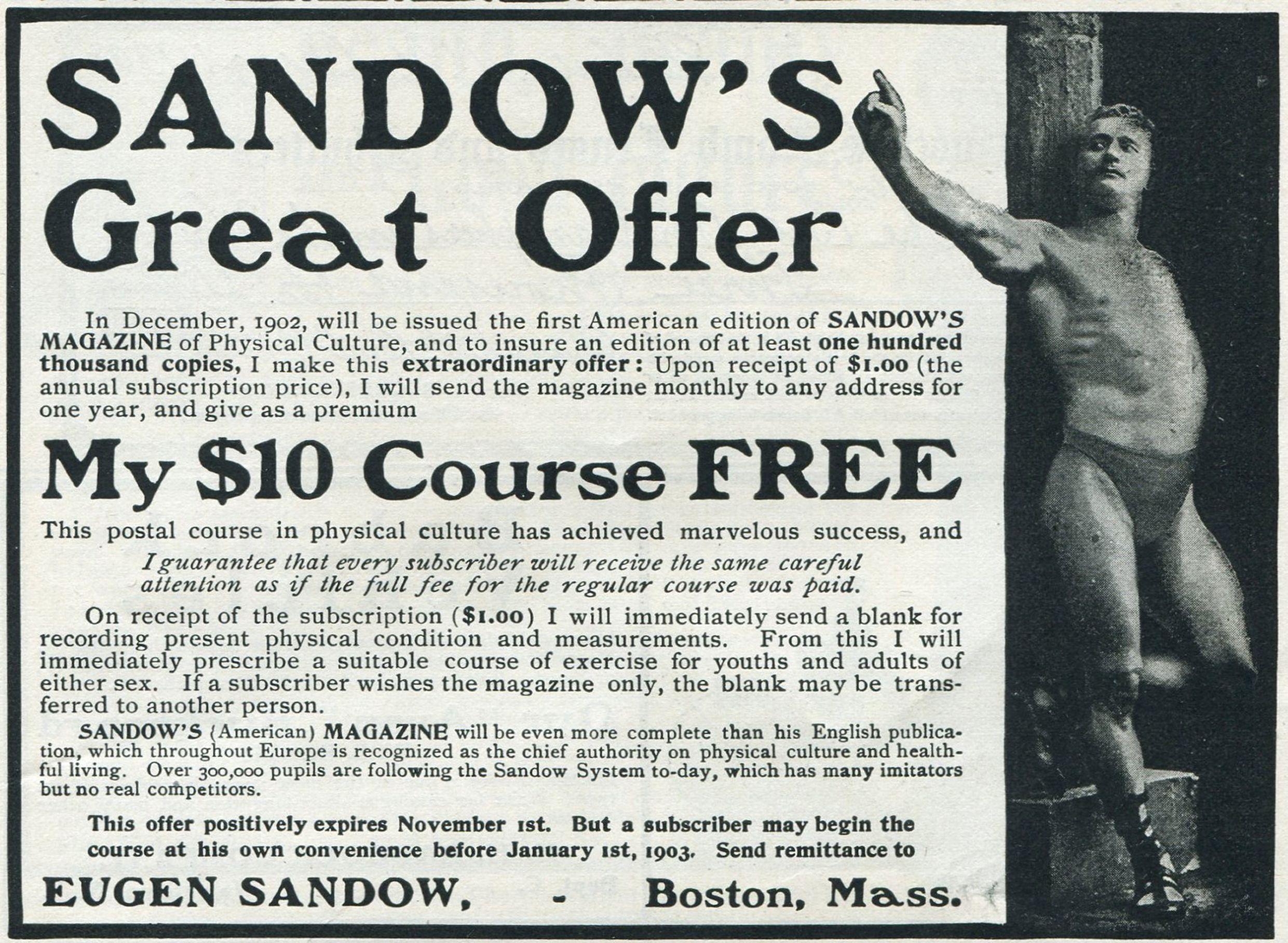Eugen Sandow's magazine