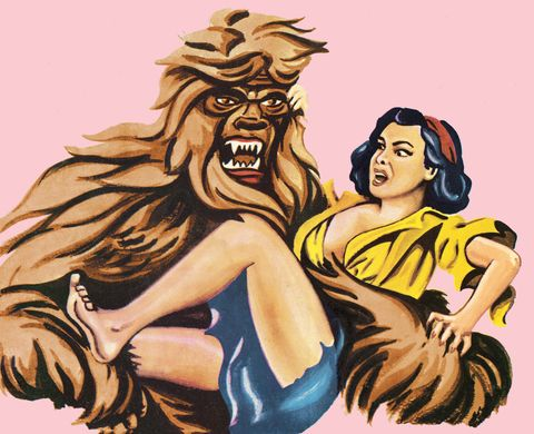 Big Foot Holding Woman