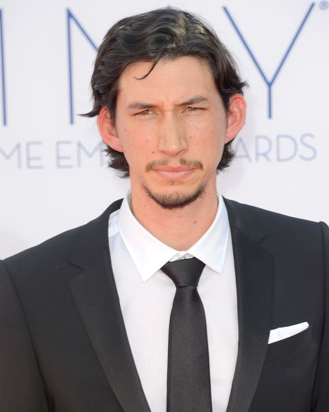 los angeles, ca   september 23  actor adam driver arrives at the 64th annual primetime emmy awards at nokia theatre la live on september 23, 2012 in los angeles, california  photo by frazer harrisongetty images