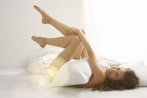 White, Leg, Beauty, Skin, Human leg, Joint, Shoulder, Blond, Arm, Long hair,