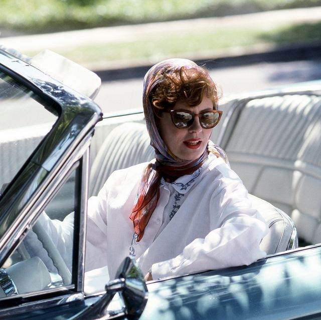 american actress susan sarandon as louise sawyer in 'thelma and louise', directed by ridley scott, 1991 photo by silver screen collectiongetty images