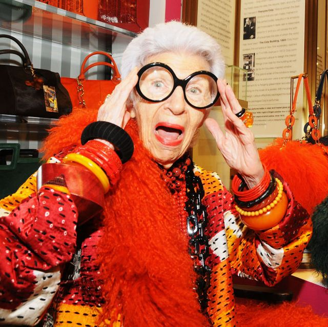 new york, ny   october 12 fashion icon iris apfel attends the iris apfel handbag collection launch at henri bendel on october 12, 2012 in new york city  photo by desiree navarrogetty images