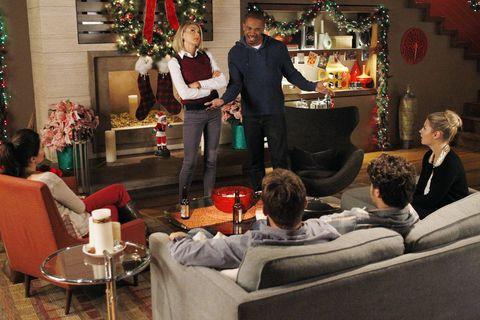 Event, Christmas, Room, Interior design, Christmas eve, Tree, Living room, House, Interior design, Furniture,