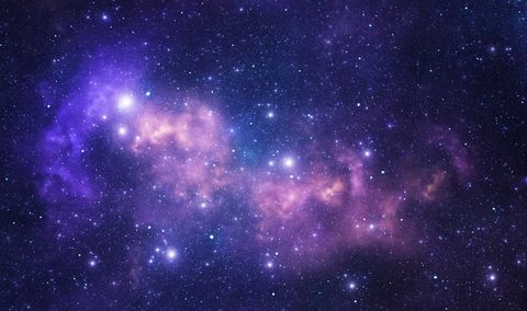 Purple space stars