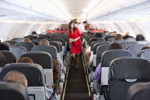 Air travel, Aircraft cabin, Airline, Aisle, Airplane, Passenger, Airliner, Vehicle, Event, Aircraft,