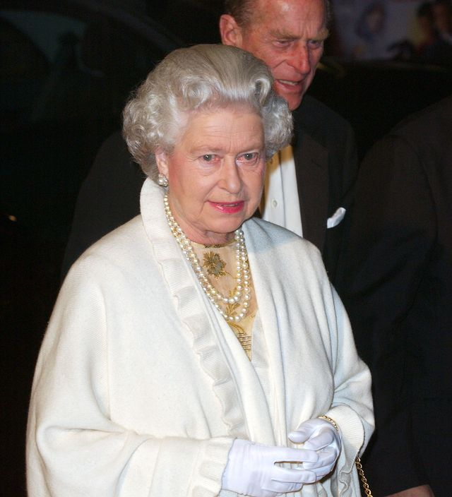 the queen attends the james bond die another day royal world premiere at londons royal albert hall photo by mark cuthbertuk press via getty images