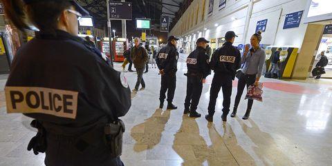 Police, Crowd, Pedestrian, Official, City, Law enforcement,