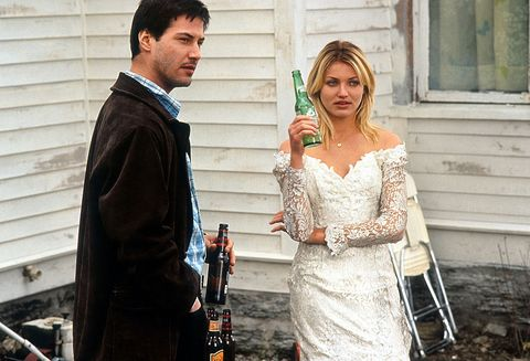 keanu reeves and cameron diaz having beers in a scene from the film feeling minnesota, 1996 photo by fine line featuresgetty images