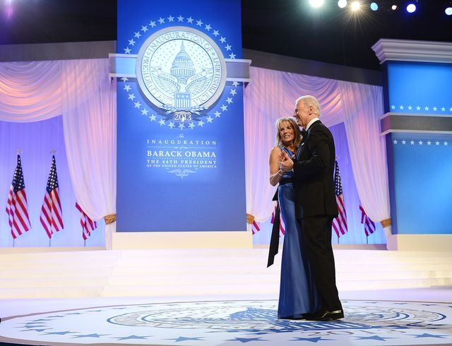 washington, dc   january 21  us vice president joe biden and dr jill biden dance together during the inaugural ball at the walter e washington convention center on january 21, 2013 in washington, united states  photo by michael kovacwireimage