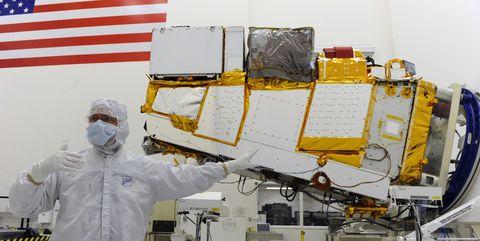 NPOESS or National Polar-Orbiting Operational Environmental Satellite System satellite.