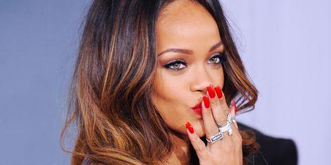 Rihanna red nails