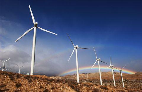 windmills rainbow
