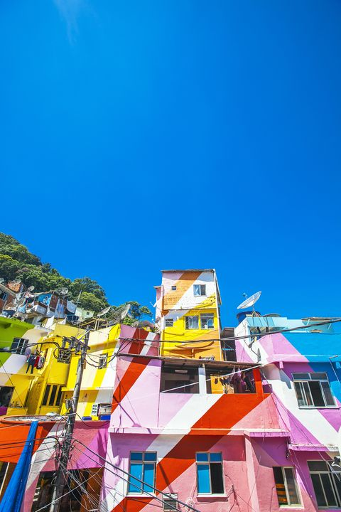 Blue, Sky, Yellow, Town, Architecture, Tourism, Vacation, House, Summer, Building,