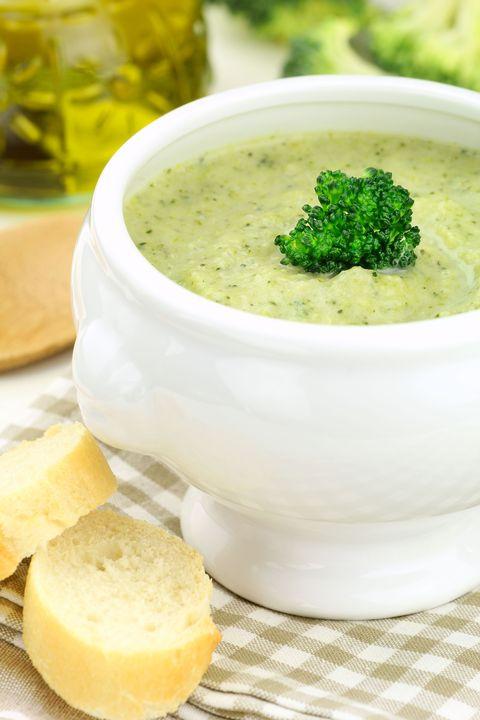 Herbed Broccoli-Cauliflower Soup