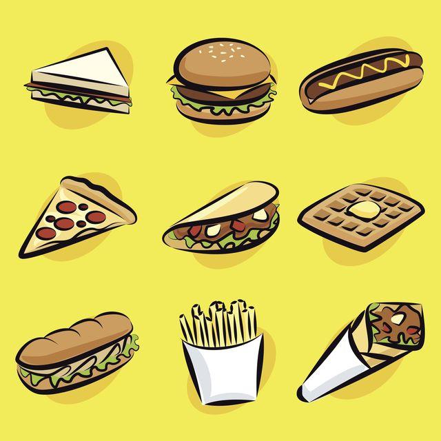 cuántas calorías tiene la comida rápida