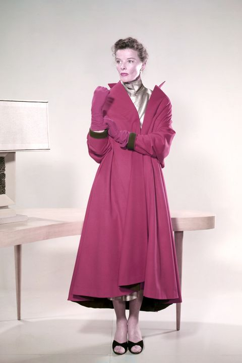 Clothing, Purple, Pink, Fashion, Dress, Standing, Coat, Outerwear, Magenta, Overcoat,