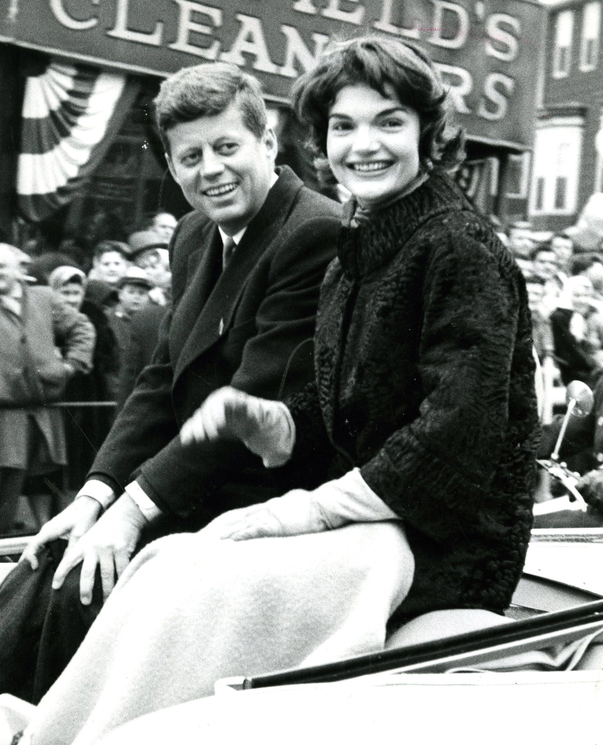 John F. Kennedy and his wife, Jacqueline, were crowd favorites at the St. Patrick's Day parade in South Boston in 1958.