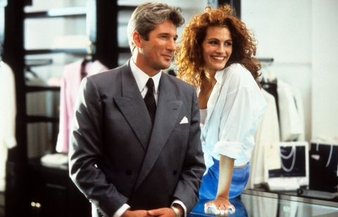 richard gere and julia roberts in a scene from the film pretty woman, 1990 photo by buena vistagetty images
