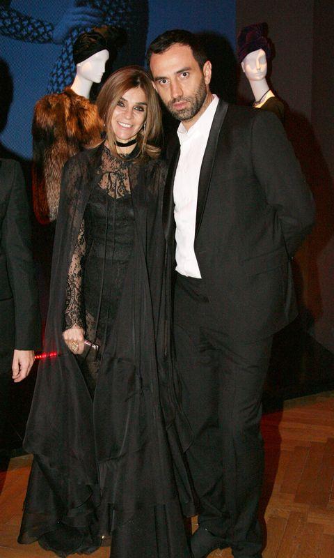Carine Roitfeld and Riccardo Tisci